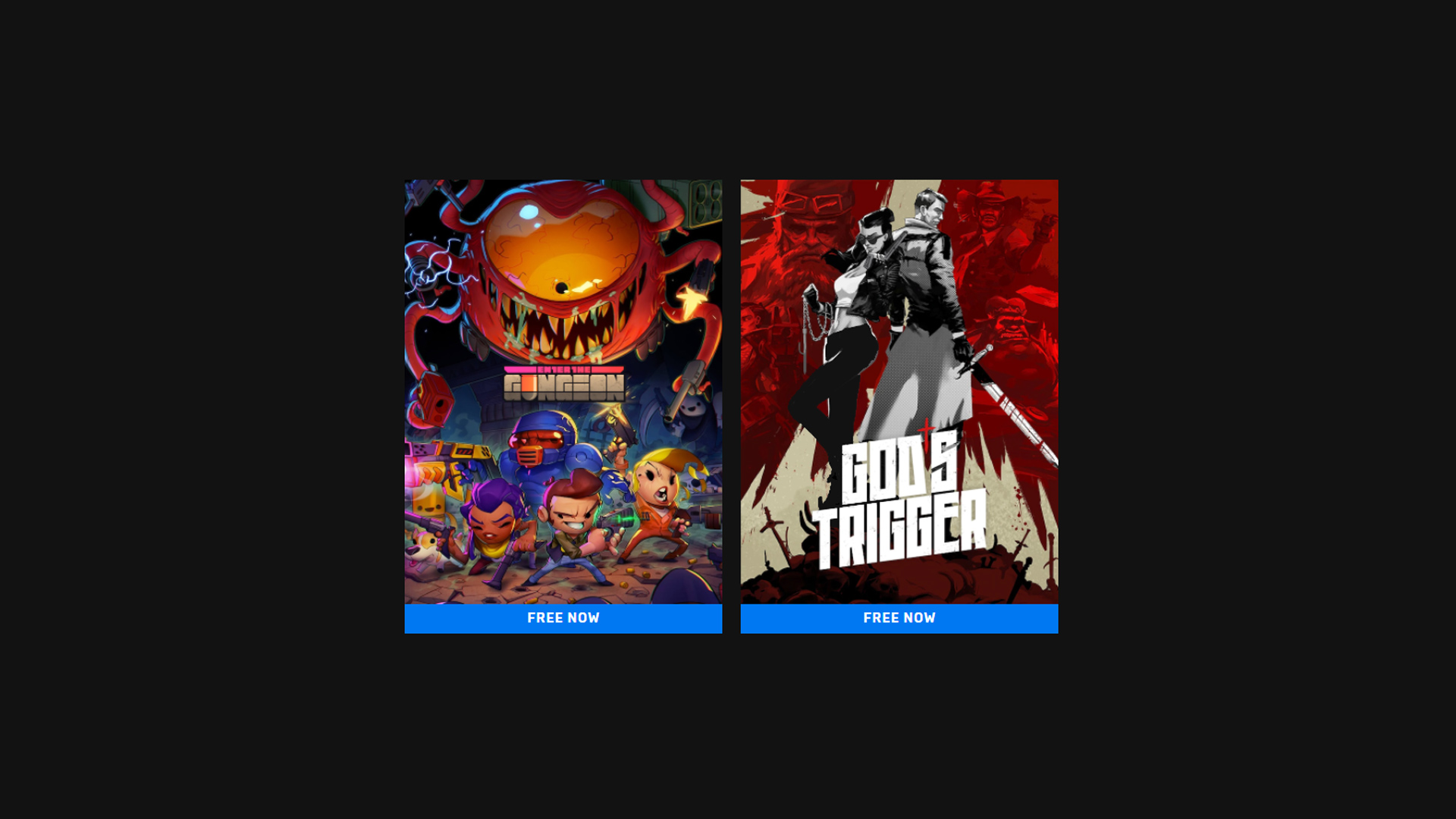 This week's Epic Games Store free games are Enter the Gungeon & God's Trigger