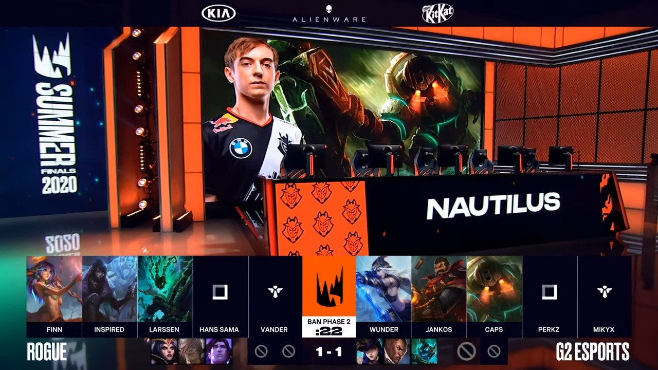 LEC – G2 Defeats Rogue For The Last Summer Finals Spot, Meets Fnatic For A Rematch