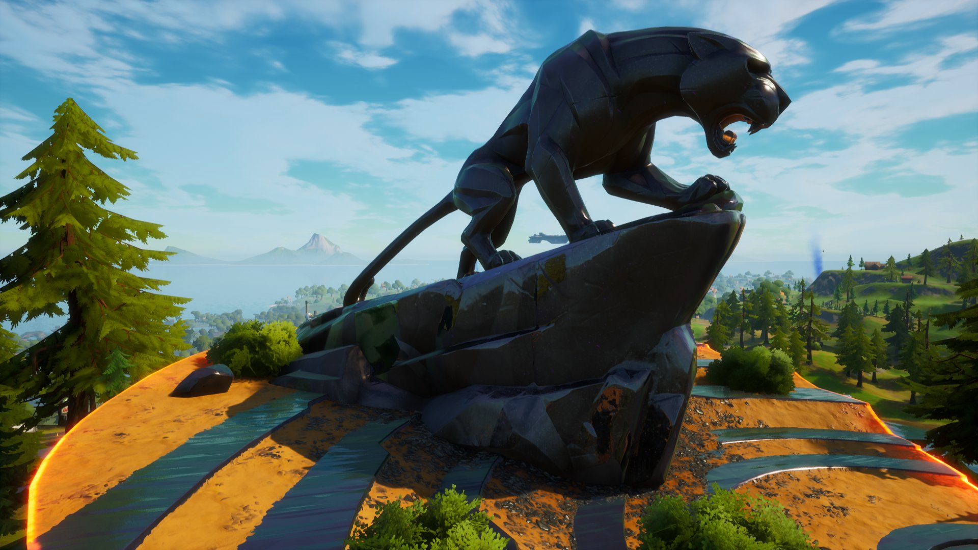 Fans are paying tribute to Chadwick Boseman at Fortnite's Panther's Prowl location