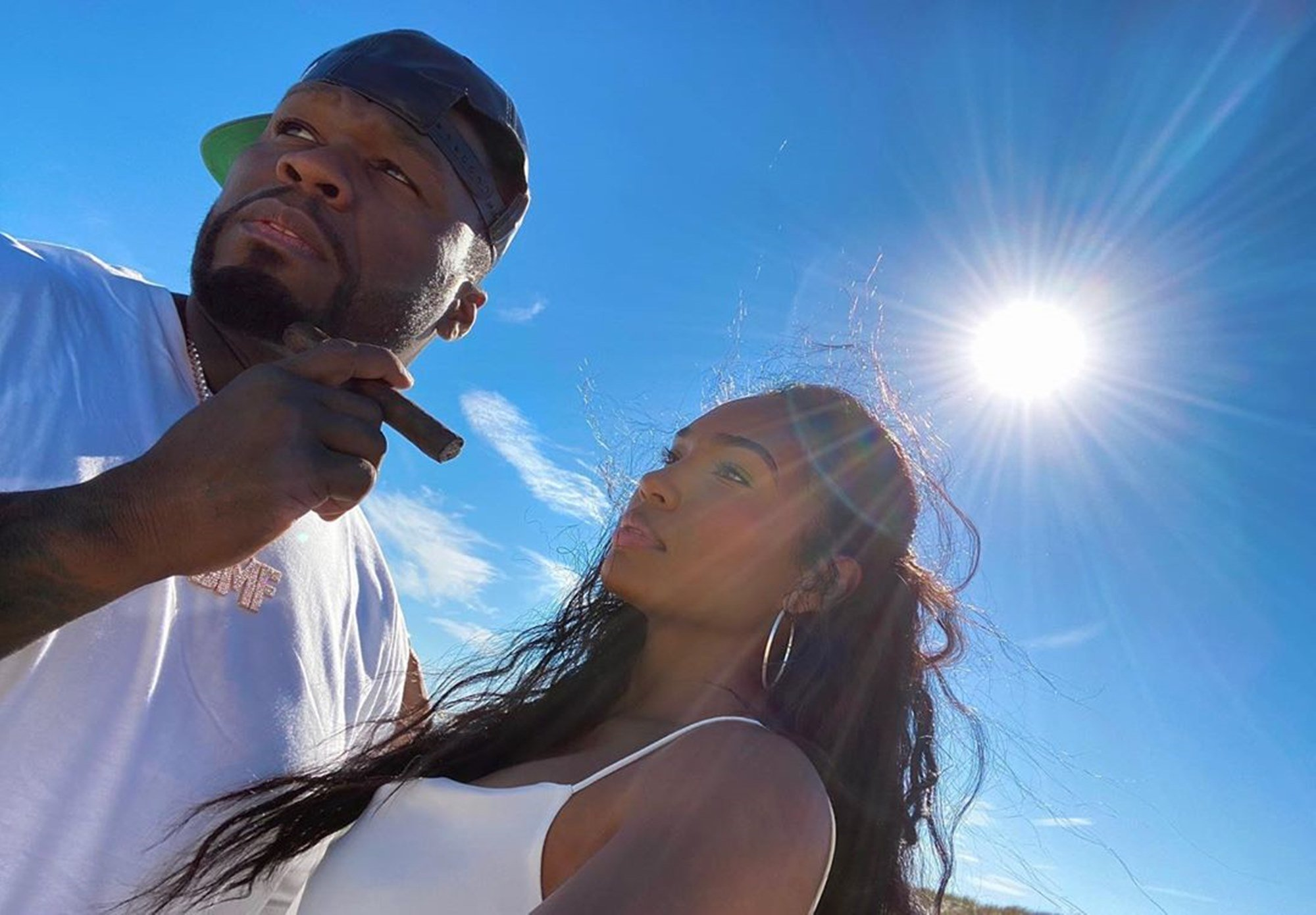 """50 Cent And Girlfriend Jamira """"Cuban Link"""" Haines Get All Cute In New Videos — Some Fans Are Still Not Ready To Give The 'Power' Producer A Pass"""