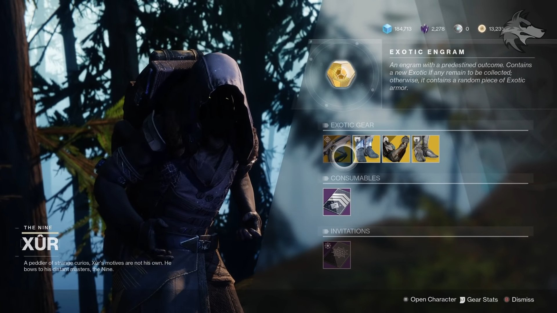 Destiny 2: All New Exotics And Inventory Updates To Xur, Destiny 2's Favorite Wanderer