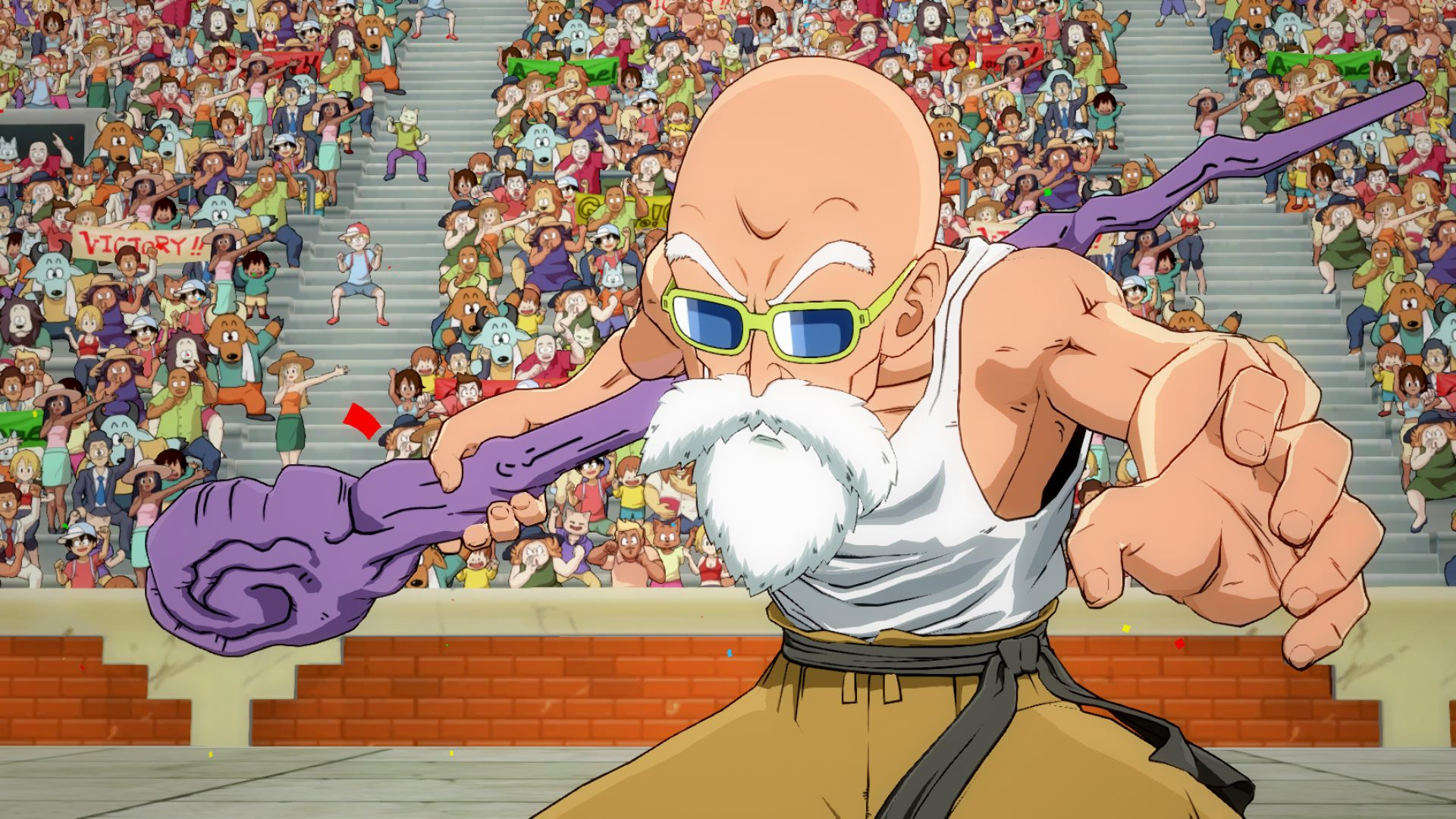 A new Master Roshi trailer for Dragon Ball FighterZ shows more gameplay