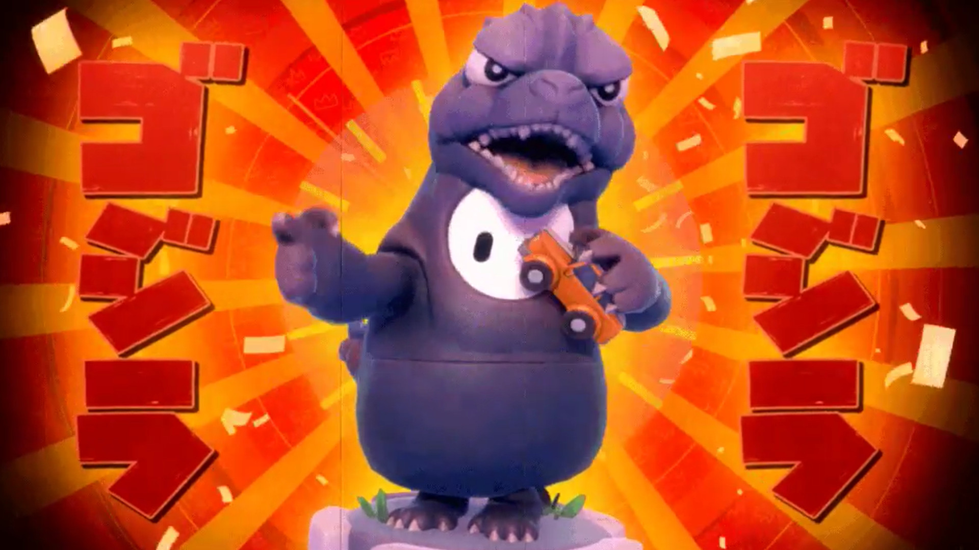 A Godzilla costume is stomping into Fall Guys next month