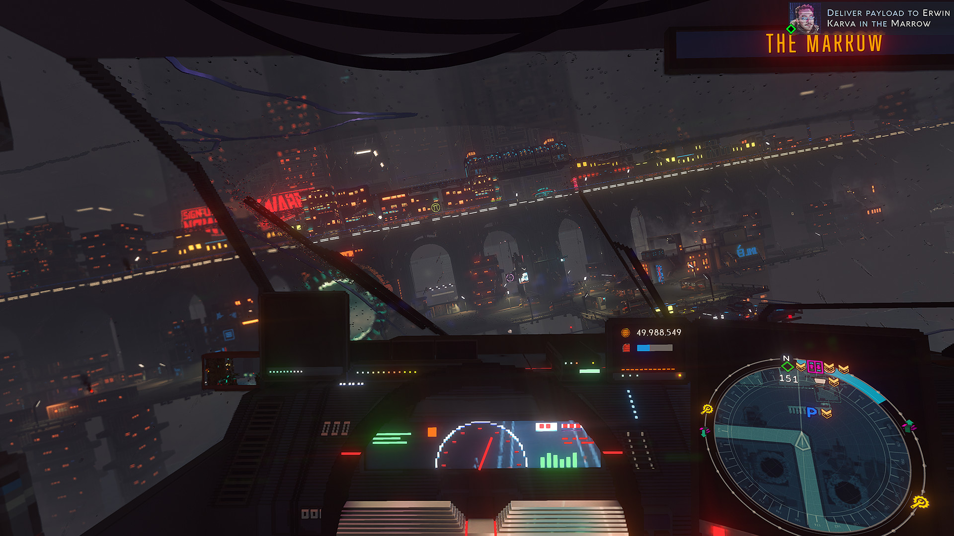 Cloudpunk update includes first-person cockpit view