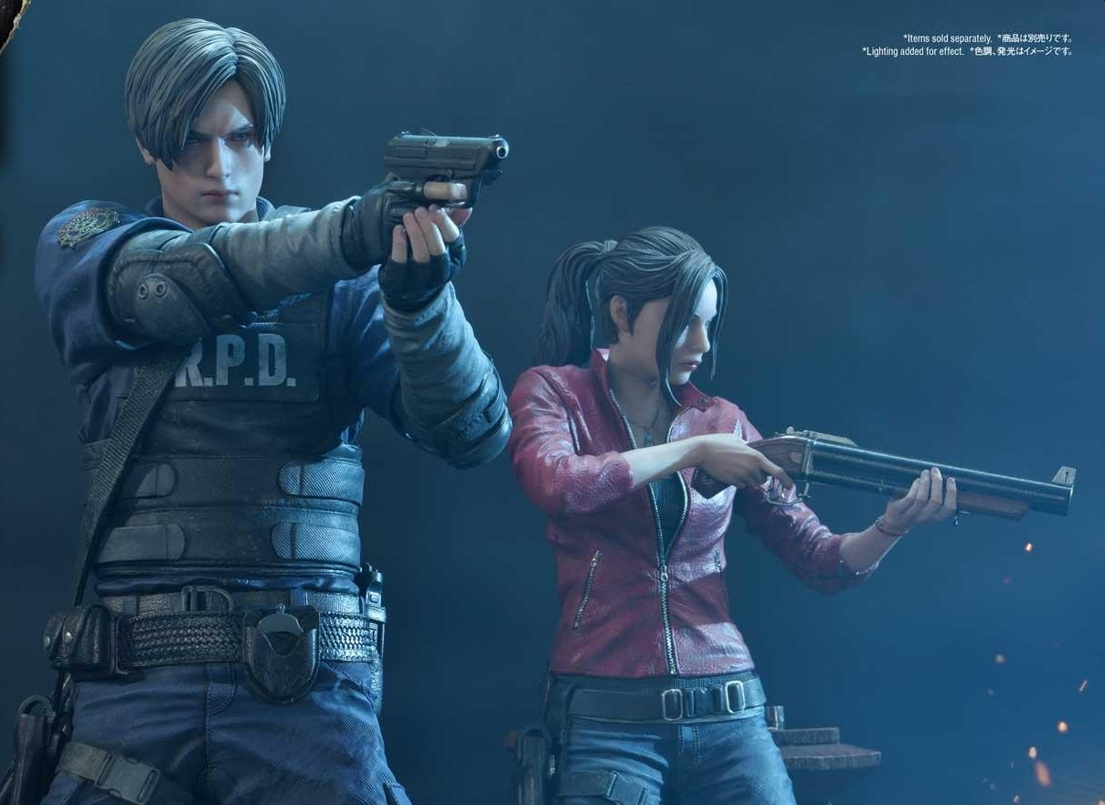 Highly Detailed Resident Evil 2 Remake Leon And Claire Statues Announced But Cost Over $1K Each