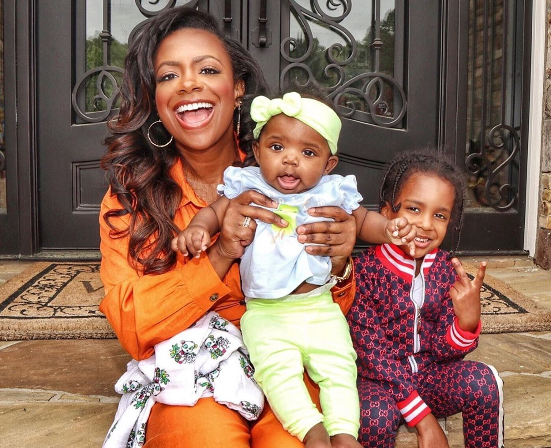 Kandi Burruss' Daughter, Blaze Tucker Is A Busy Girl, Checking Out What's Going On In Ace Wells Tucker's Room – See The Funny Video