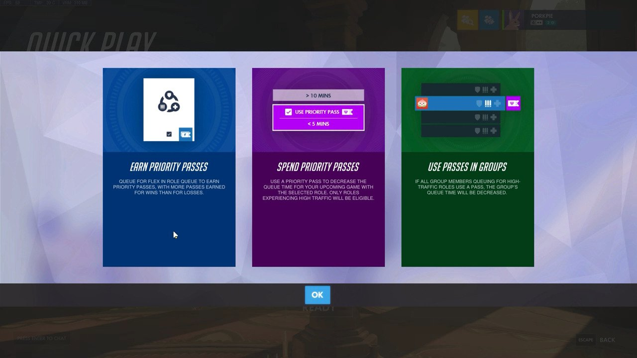 Overwatch New Developer Update – Game Designer Scott Mercer Goes Into Detail About The Upcoming Priority Pass System