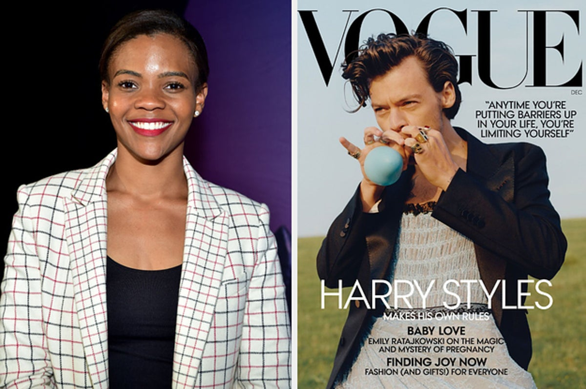 Harry Styles Attacked By Candace Owens Over Vogue Cover Not Being 'Manly' Enough – Fans Defend Him!