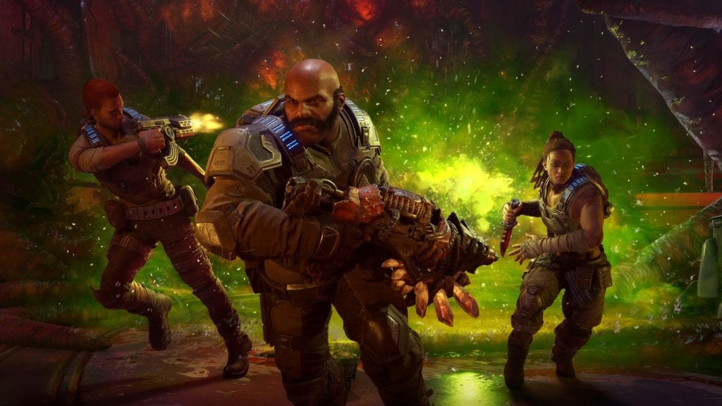 Gears 5 Hivebusters DLC launch trailer features old man Hoffman and deadly creatures