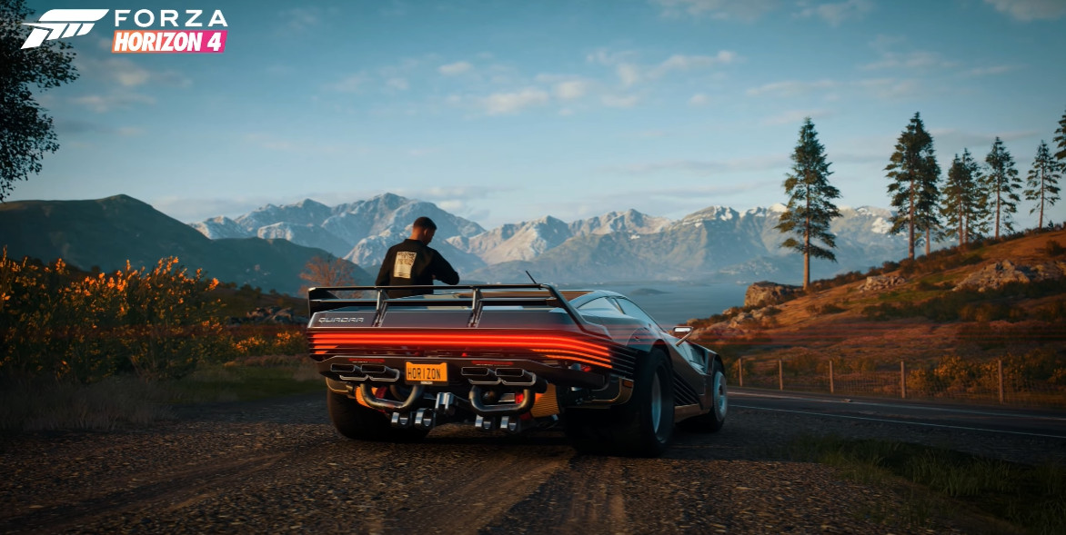 Forza Horizon 4 is expanding its car collection with a ride from Cyberpunk 2077
